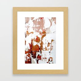 blush abstract. 03 Framed Art Print