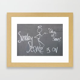 Sunday Service Framed Art Print