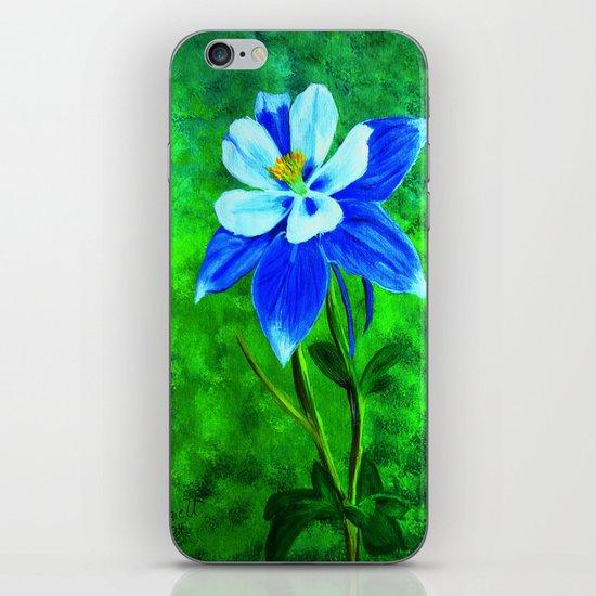 Blue columbine iPhone Skin