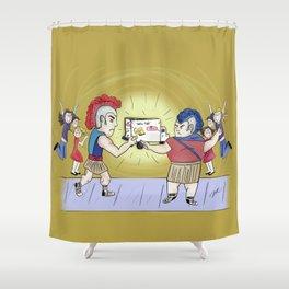 Twinkie Fight Shower Curtain