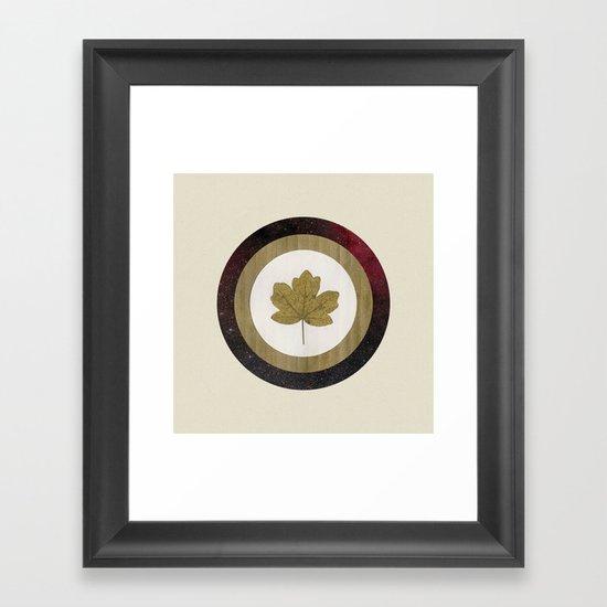 Leaf Space Framed Art Print