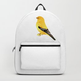 Gold Finch Cartoon Drawing Backpack