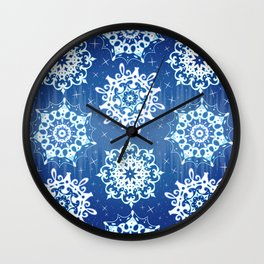 Sparkly Snowflakes Wall Clock