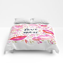 Love Yourself More #inspirational #society6 #decor Comforters
