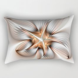 Elegance of a Flower, modern Fractal Art Rectangular Pillow