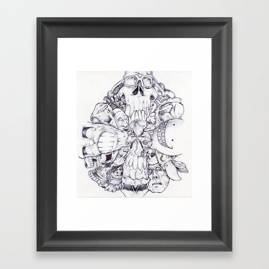 Facing Direction. Framed Art Print