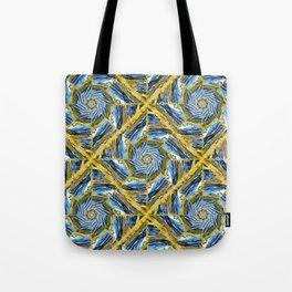 golden day kaleidoscope pattern Tote Bag