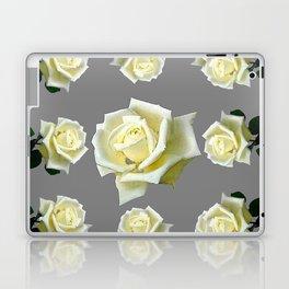 WHITE ROSES GARDEN DESIGN Laptop & iPad Skin