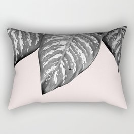 Leaves and pink Rectangular Pillow