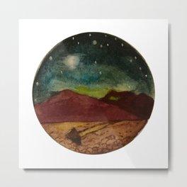 Moving Rock, Sleeping Desert Metal Print