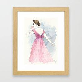 'Emma' Watercolor Fashion Illustration Framed Art Print