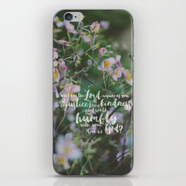 Micah 6:8 | Do Justice, Love Kindness, Walk Humbly Encouraging Scripture Art iPhone Skin