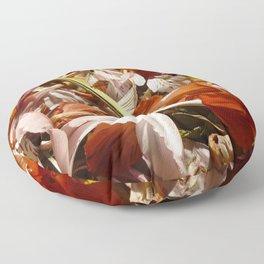 Flowers on a table  Floor Pillow