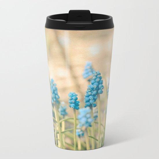 Forest of Blue Metal Travel Mug