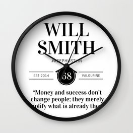 26  |  Will Smith Quotes | 190905 Wall Clock