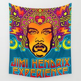 1968 Jimi Hendrix Experience Fillmore East San Francisco Concert Poster Wall Tapestry