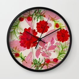 Berries and Boughs Wall Clock