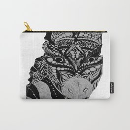 African Zebra Carry-All Pouch