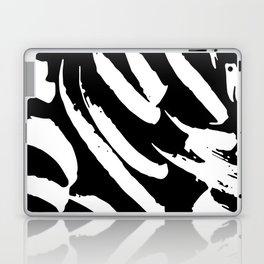 Black and White Brush Strokes Laptop & iPad Skin