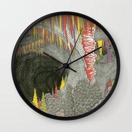 Color Cave Wall Clock