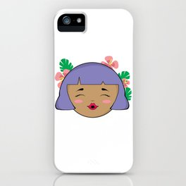 Purple Tropical Girl iPhone Case