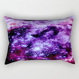 galaXy. Stars Purple Pink Nebula Rectangular Pillow