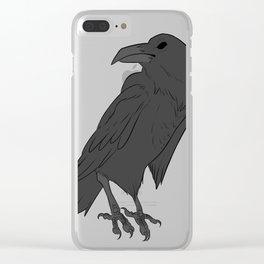 Dark Raven Clear iPhone Case