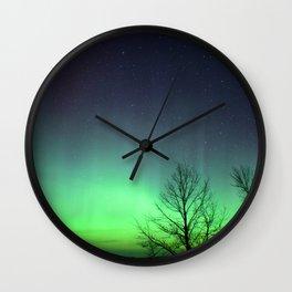 A Green Glow Wall Clock