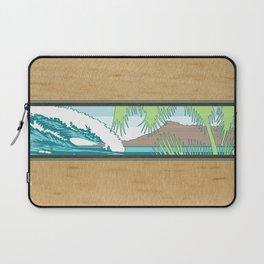 Ala Moana Diamond Head Hawaiian Surf Sign Laptop Sleeve