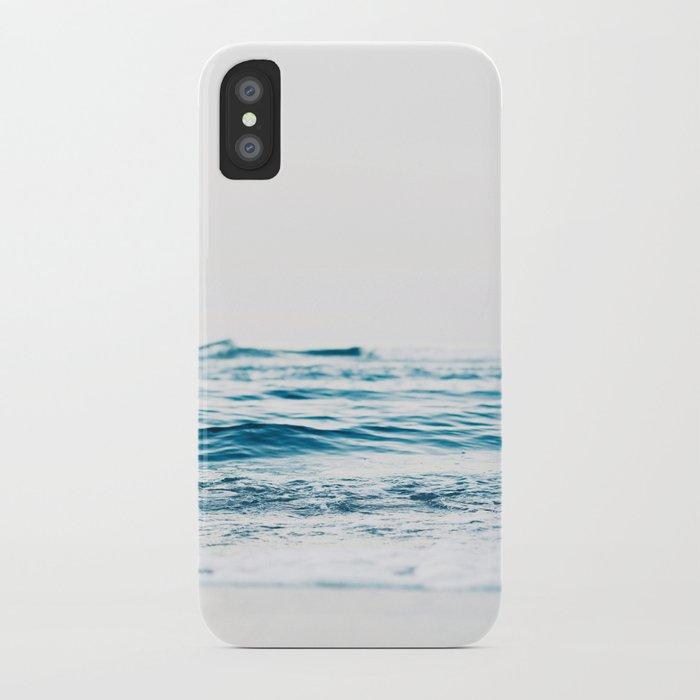 ocean waves, printable photography, coastal print, colorful photo, beach waves, beautiful beach, oce iPhone Case