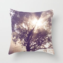 Battle of Sun and Fog Throw Pillow