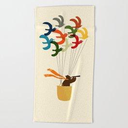 Whimsical Journey Beach Towel