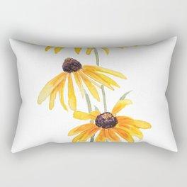 3 yellow gloriosa daisies Rectangular Pillow