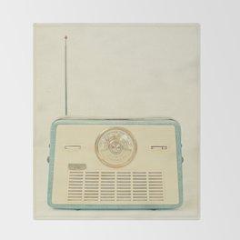 Radio Days Throw Blanket