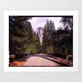Ahwahnee Bridge, Yosemite Village Art Print