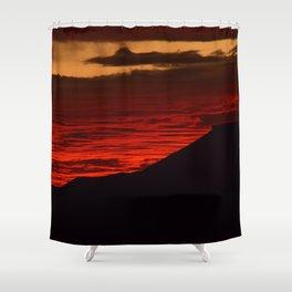 Red Hot Desert Sky Shower Curtain