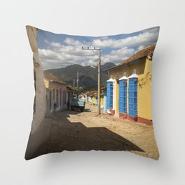 Wonderful Trinidad, Cuba.  A colourful city, at the feet of majestic mountains. Throw Pillow