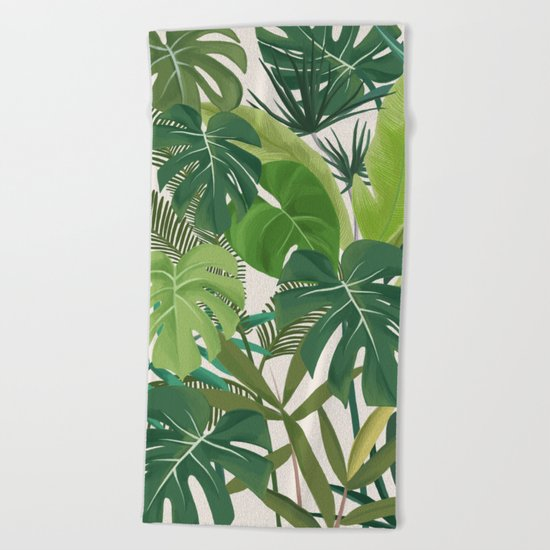 Tropical Party art illustration Beach Towel