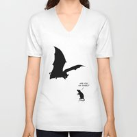 angel V-neck T-shirts featuring Angel by Mobii