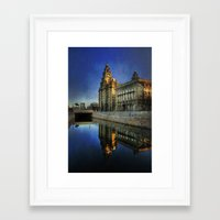 liverpool Framed Art Prints featuring Liverpool Sunrise by tarrby/Brian Tarr