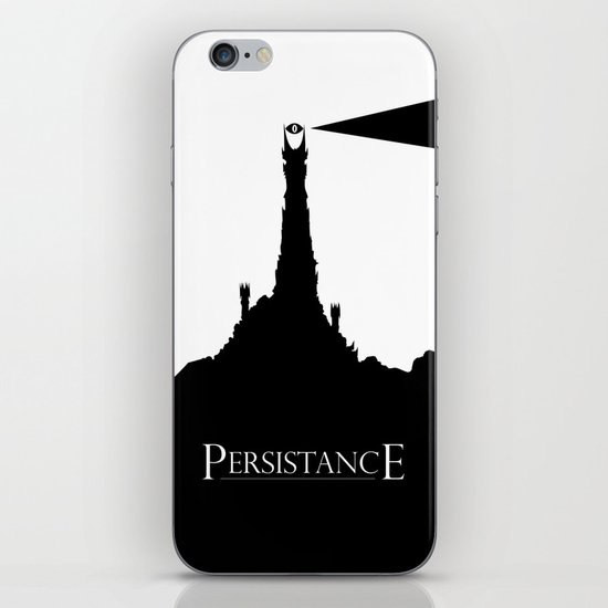 Lord of the Rings Motivational Poster - Persistance iPhone & iPod Skin