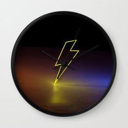 Lightning Strike 3D Art  Wall Clock