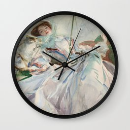 "John Singer Sargent ""The Lady with the Umbrella"" Wall Clock"