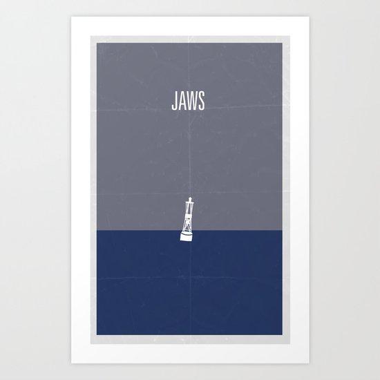 Jaws minimalist poster Art Print