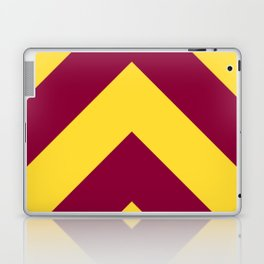 Sunnydale High Chevron (Maroon & Gold - #8A0034 x #FFDC32) Laptop & iPad Skin