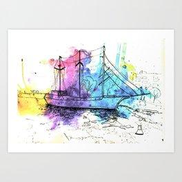 Caledonia Ship Art Print