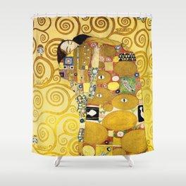 The Embrace (Fulfilment) by Gustav Klimt (1905) Shower Curtain
