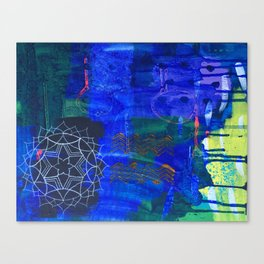 Ultramarine Mandala Canvas Print