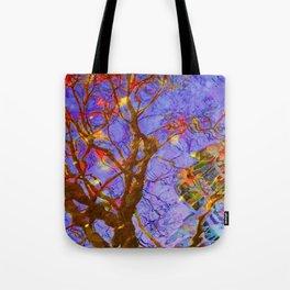 Urban Painting 123 - Purple Tote Bag