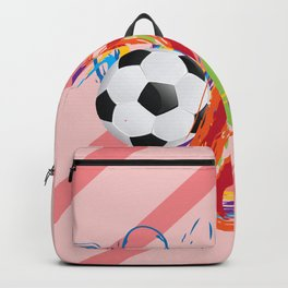 Soccer Ball with Brush Strokes Backpack